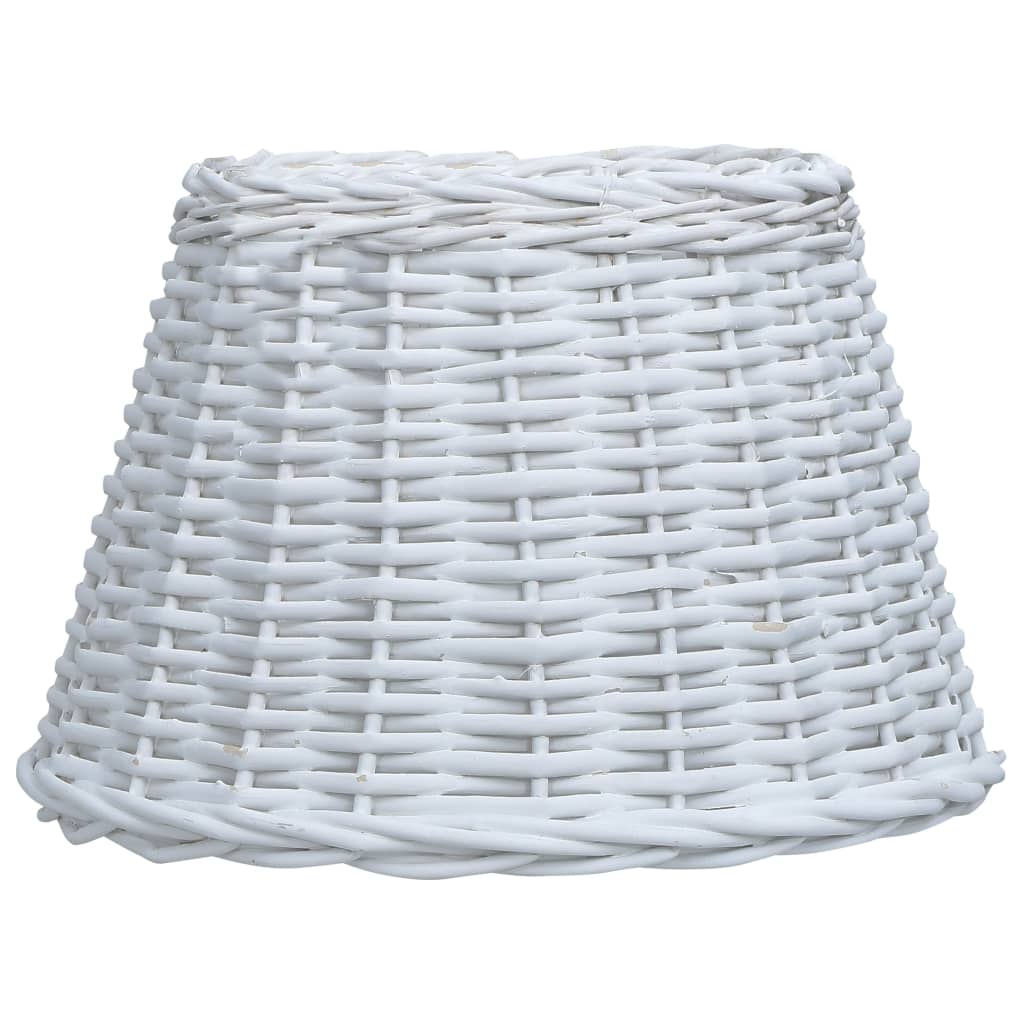 Lampskärm korg 50x30 cm vit