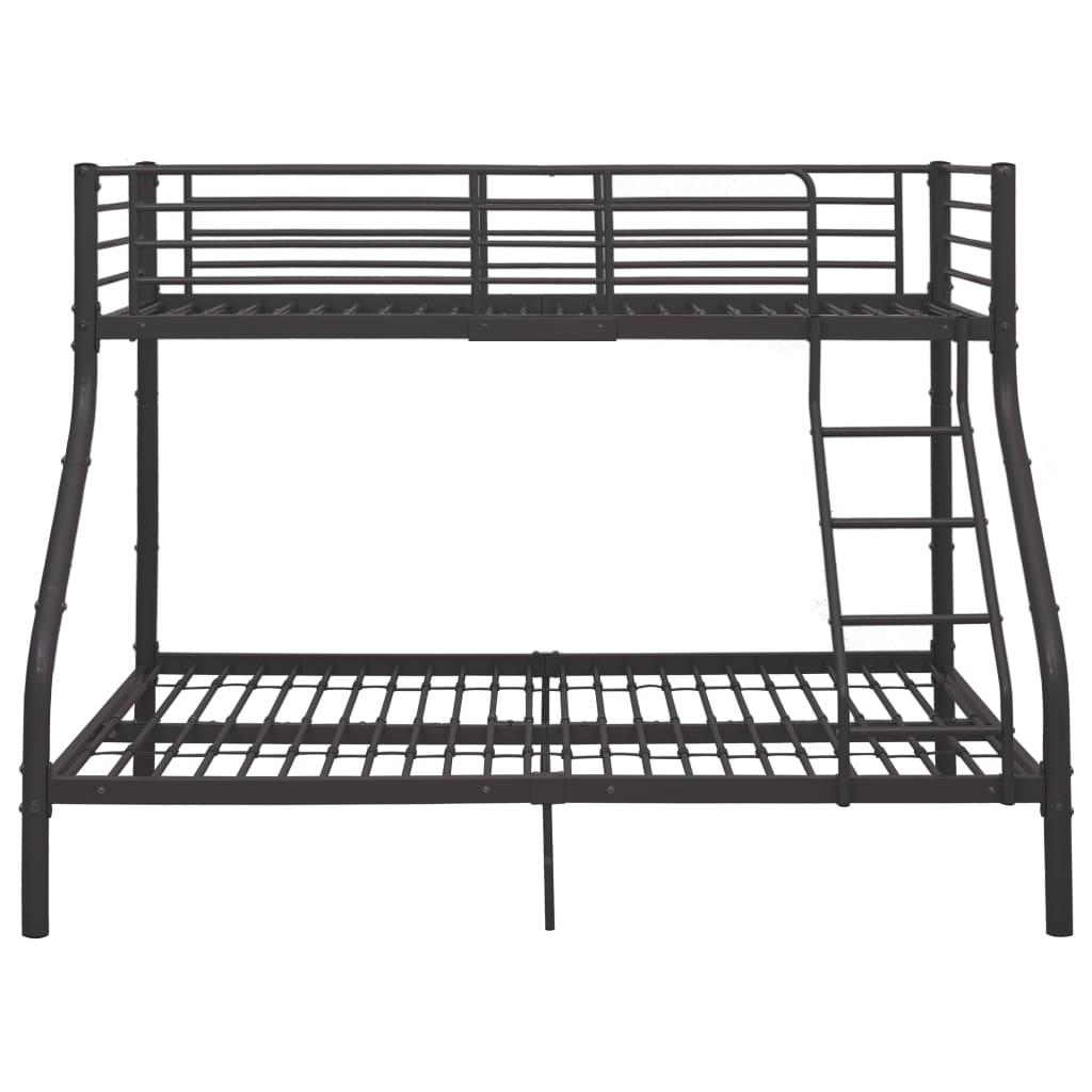 Våningssäng grå metall 140x200/90x200 cm