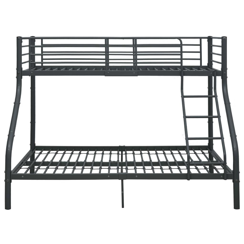 Våningssäng svart metall 140x200/90x200 cm