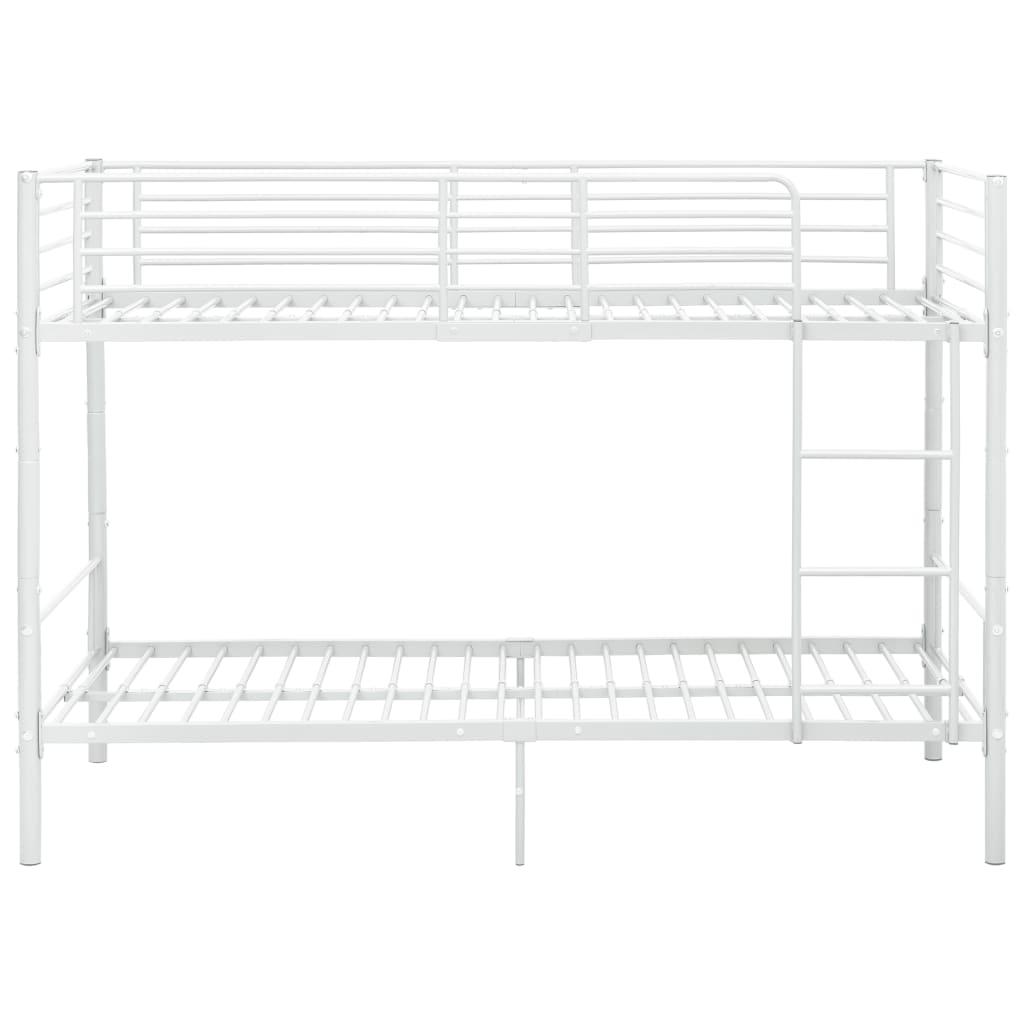 Våningssäng vit metall 90x200 cm