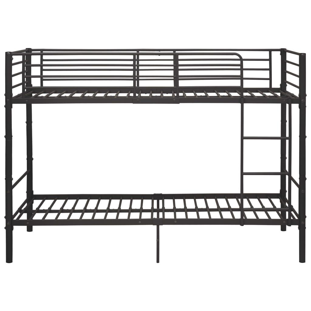 Våningssäng grå metall 90x200 cm