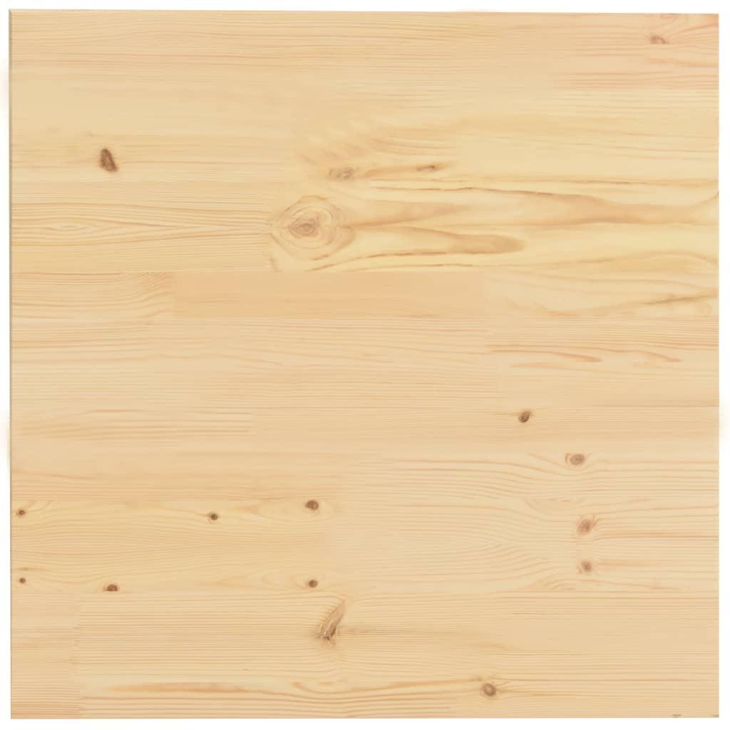 Bordsskiva naturlig furu fyrkantig 50x50x2,5 cm
