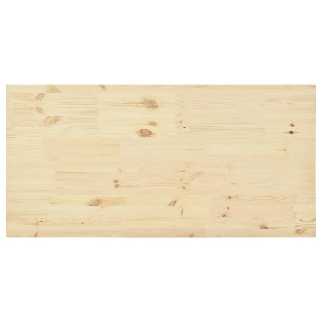 Bordsskiva naturlig furu rektangulär 140x70x2,5 cm