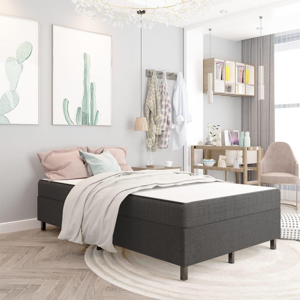 Sängram grå tyg 120x200 cm