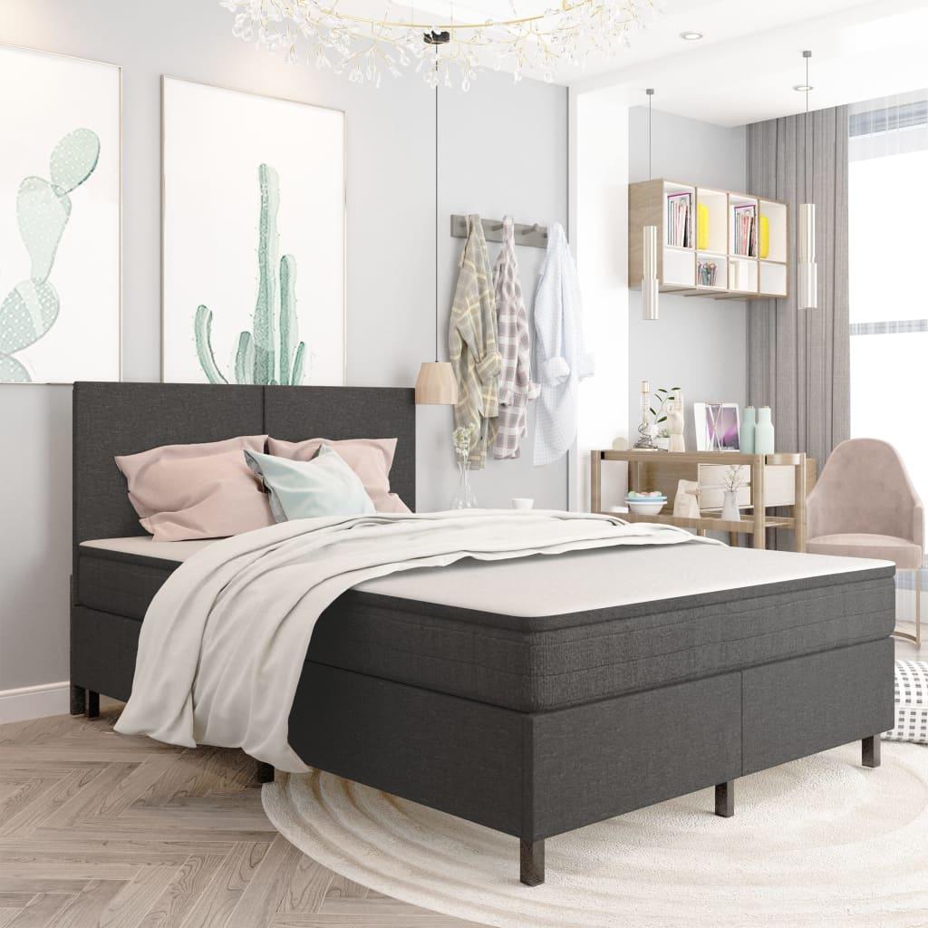 Sängram grå tyg 140x200 cm
