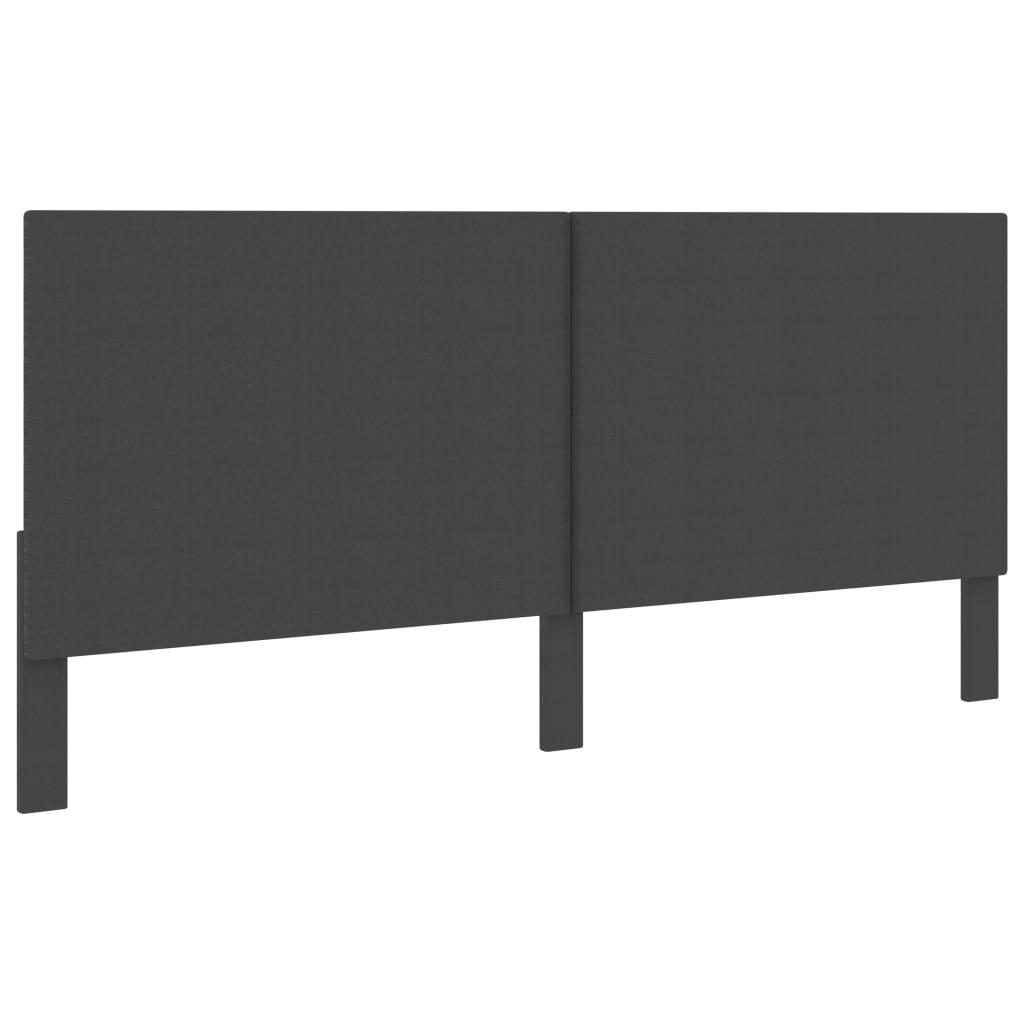 Huvudgavel mörkgrå tyg 200x200 cm