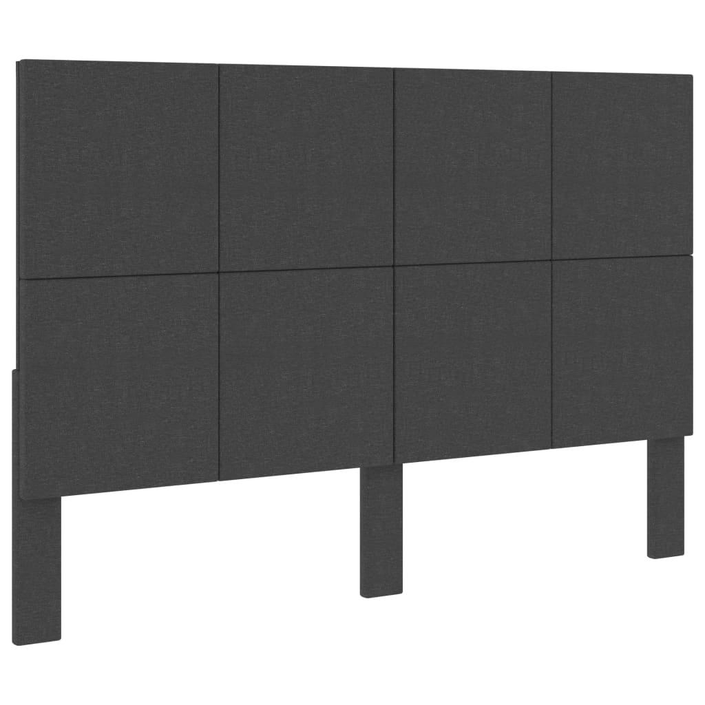 Huvudgavel mörkgrå tyg 140x200 cm