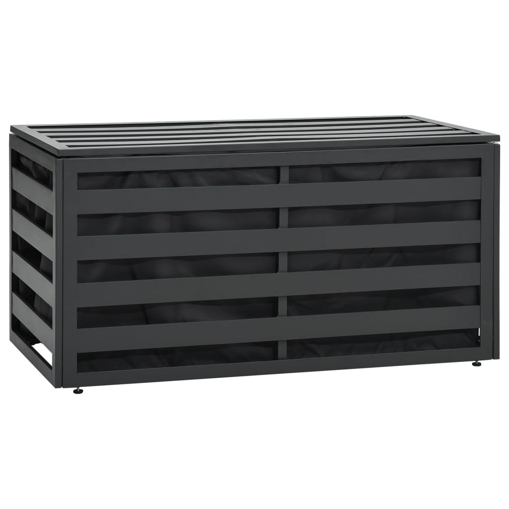 Dynbox aluminium 100x50x50 cm antracit