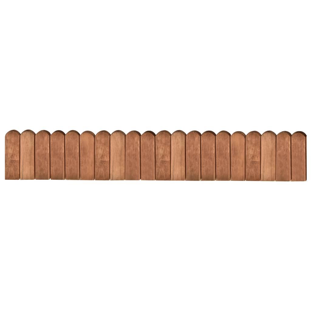 Rabattkant brun 120 cm impregnerad furu