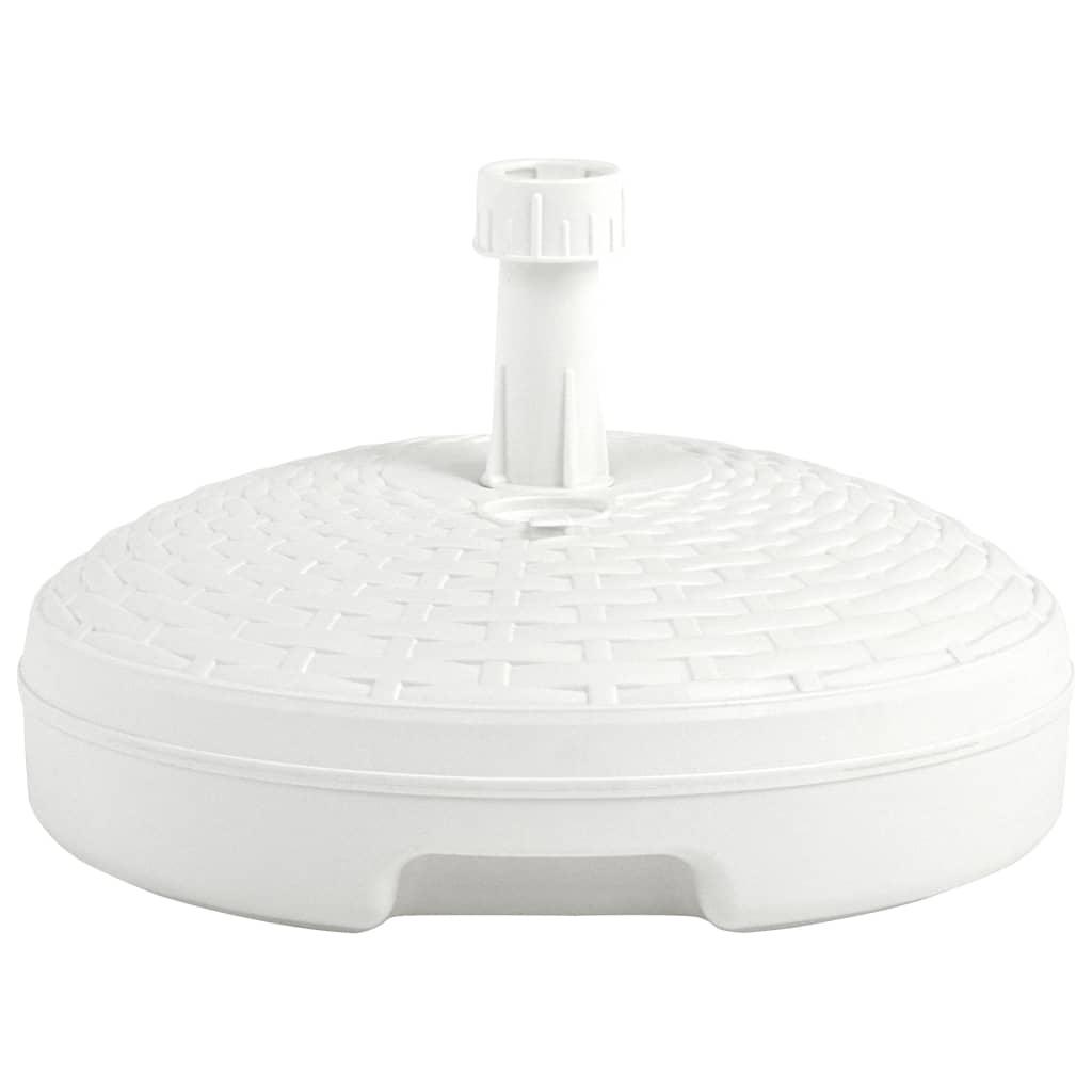 Parasollfot sand/vattenfylld 20 L vit plast