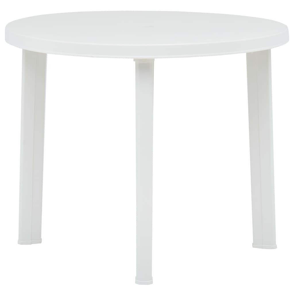 Trädgårdsbord vit 89 cm plast