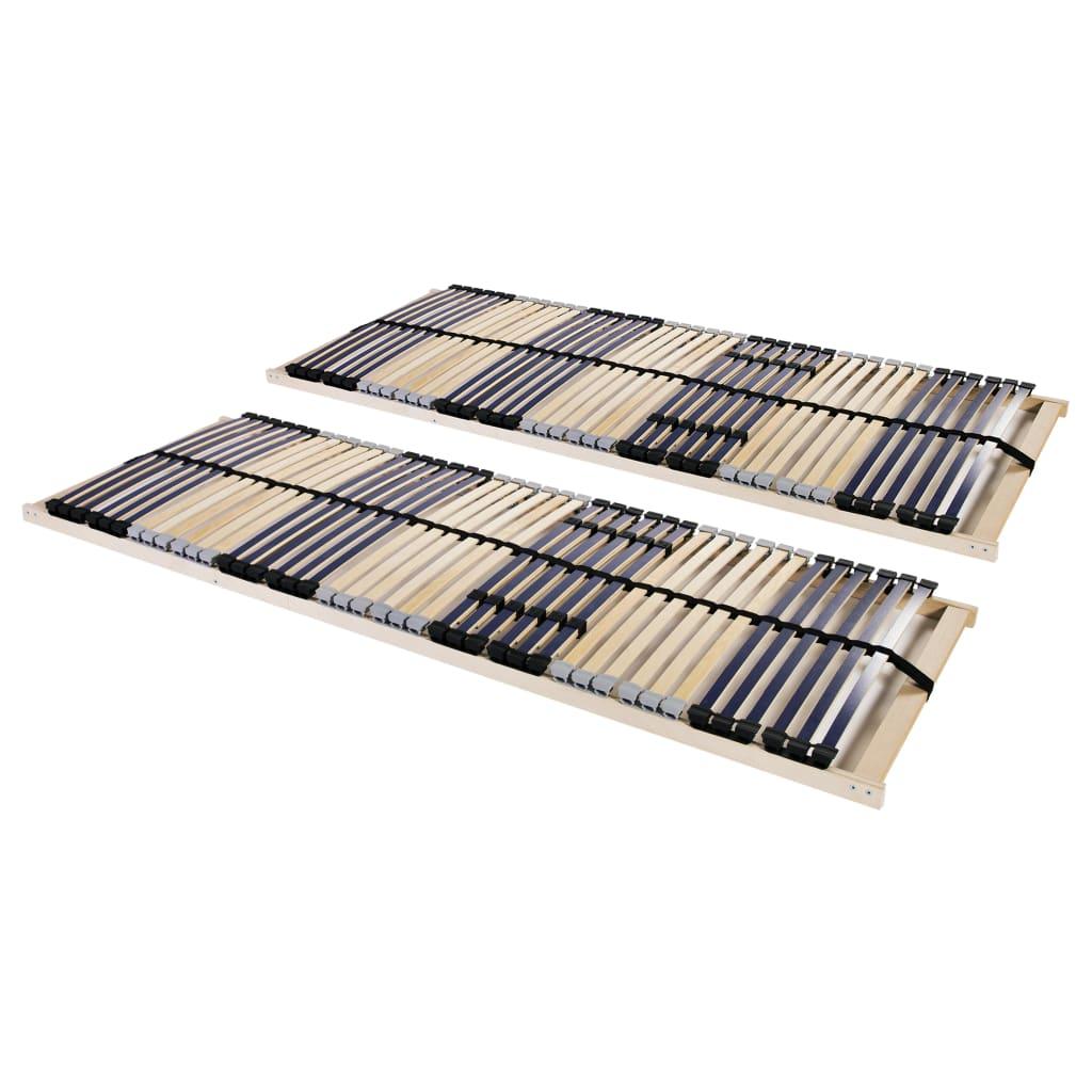 Ribbotten med 42 ribbor 2 st 7 zoner 90x200 cm