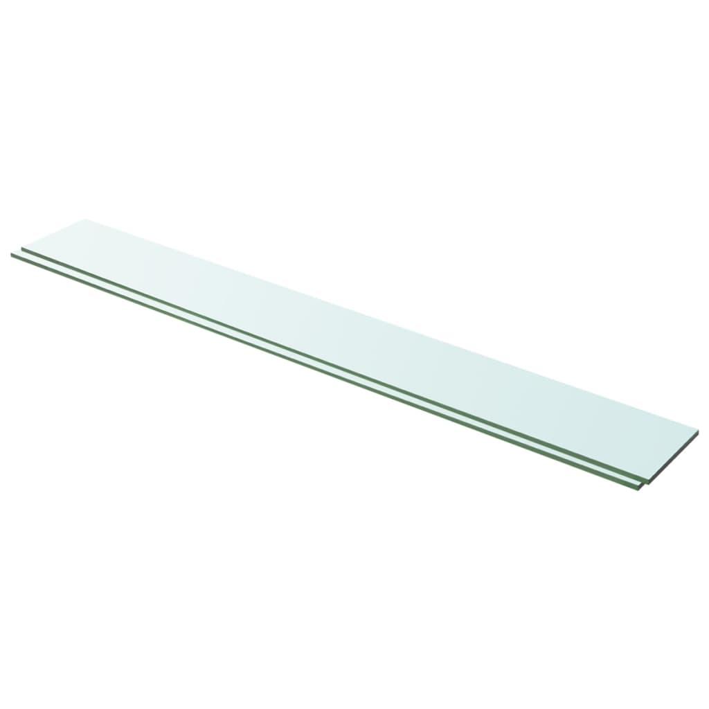 Hyllplan 2 st glas genomskinligt 100x12 cm