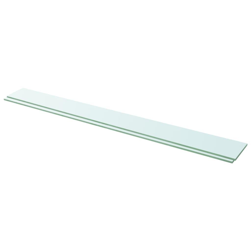 Hyllplan 2 st glas genomskinlig 110x12 cm