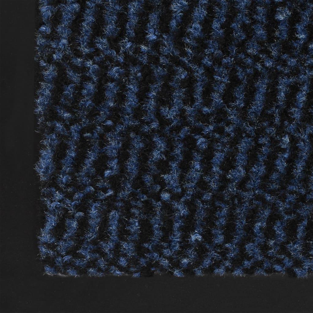 Dörrmattor 2 st rektangulär tuftad 60x90 cm blå