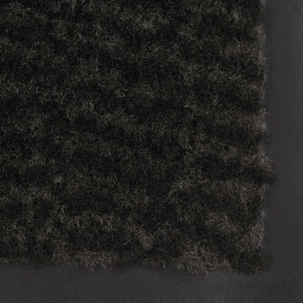 Dörrmattor 2 st rektangulär tuftad 90x150 cm svart