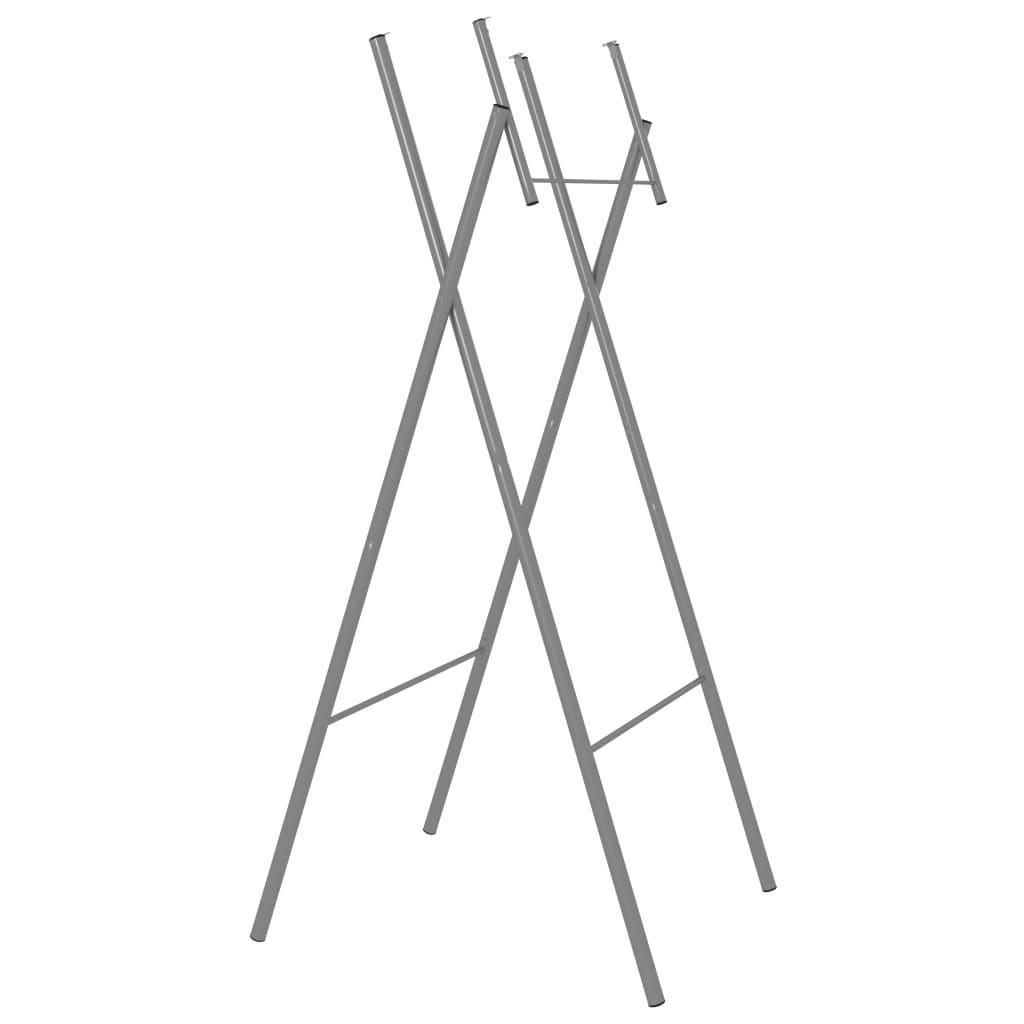 Hopfällbara bordsben 6 st silver 45x55x112 cm galvaniserat stål