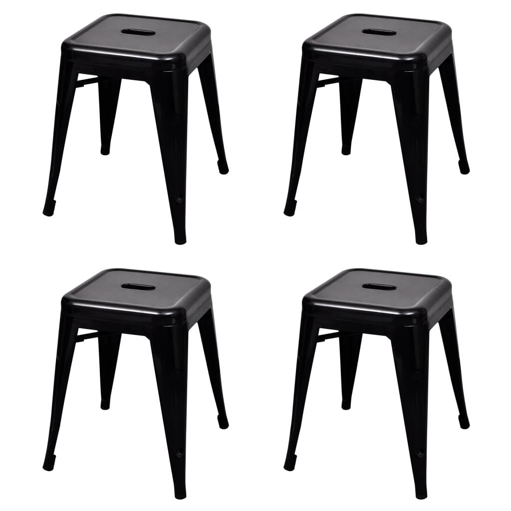 Stapelbara pallar 4 st svart stål