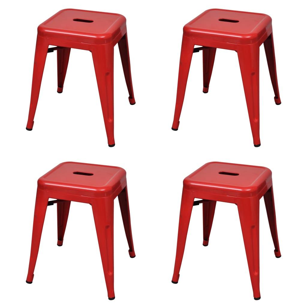 Stapelbara pallar 4 st röd stål
