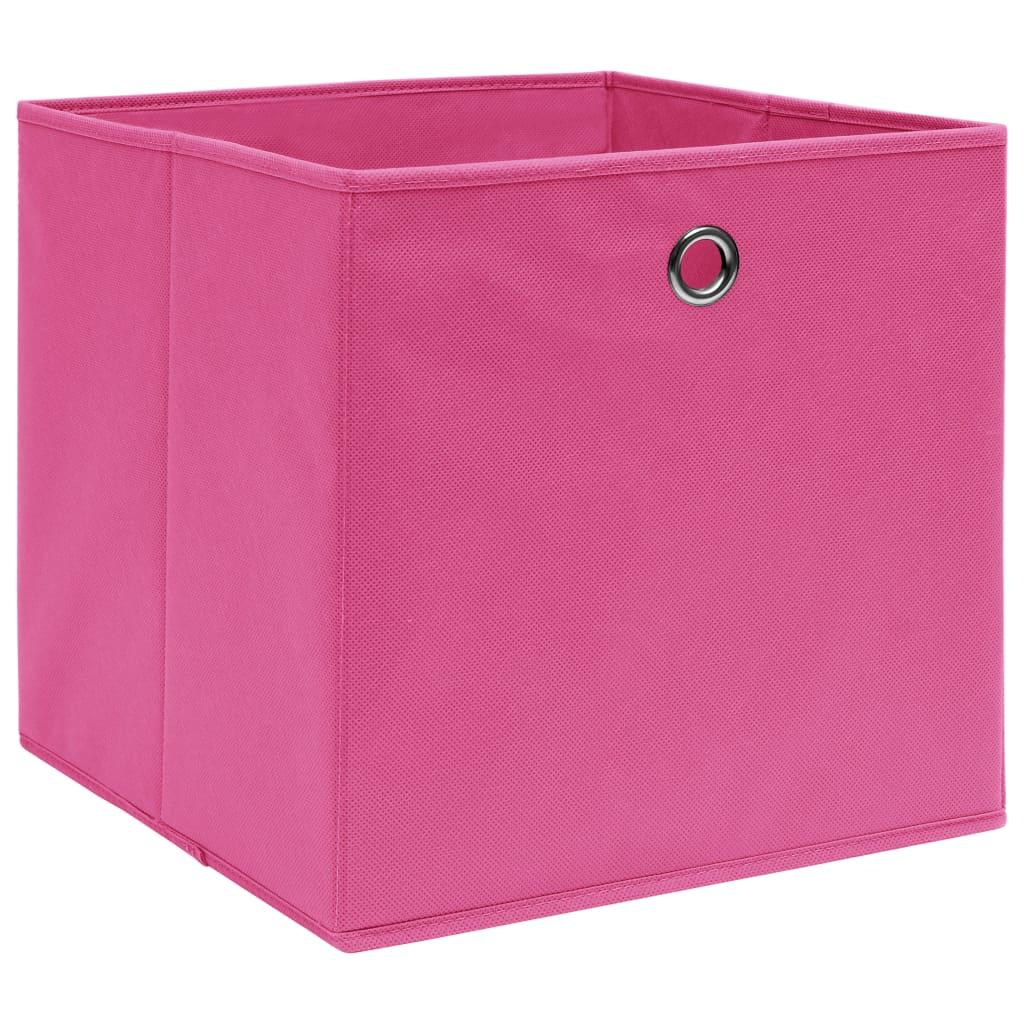 Förvaringslådor 4 st rosa 32x32x32 cm tyg