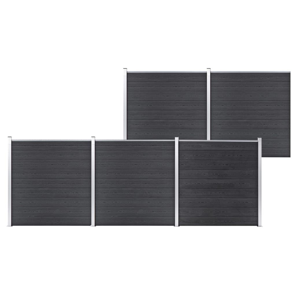 Staketpanel WPC 872x186 cm grå