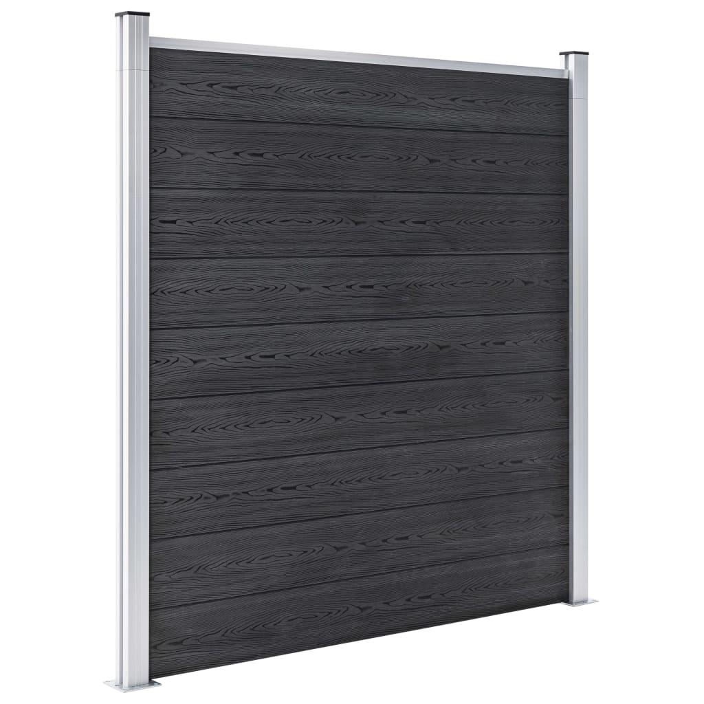 Staketpanel WPC 1218x186 cm grå