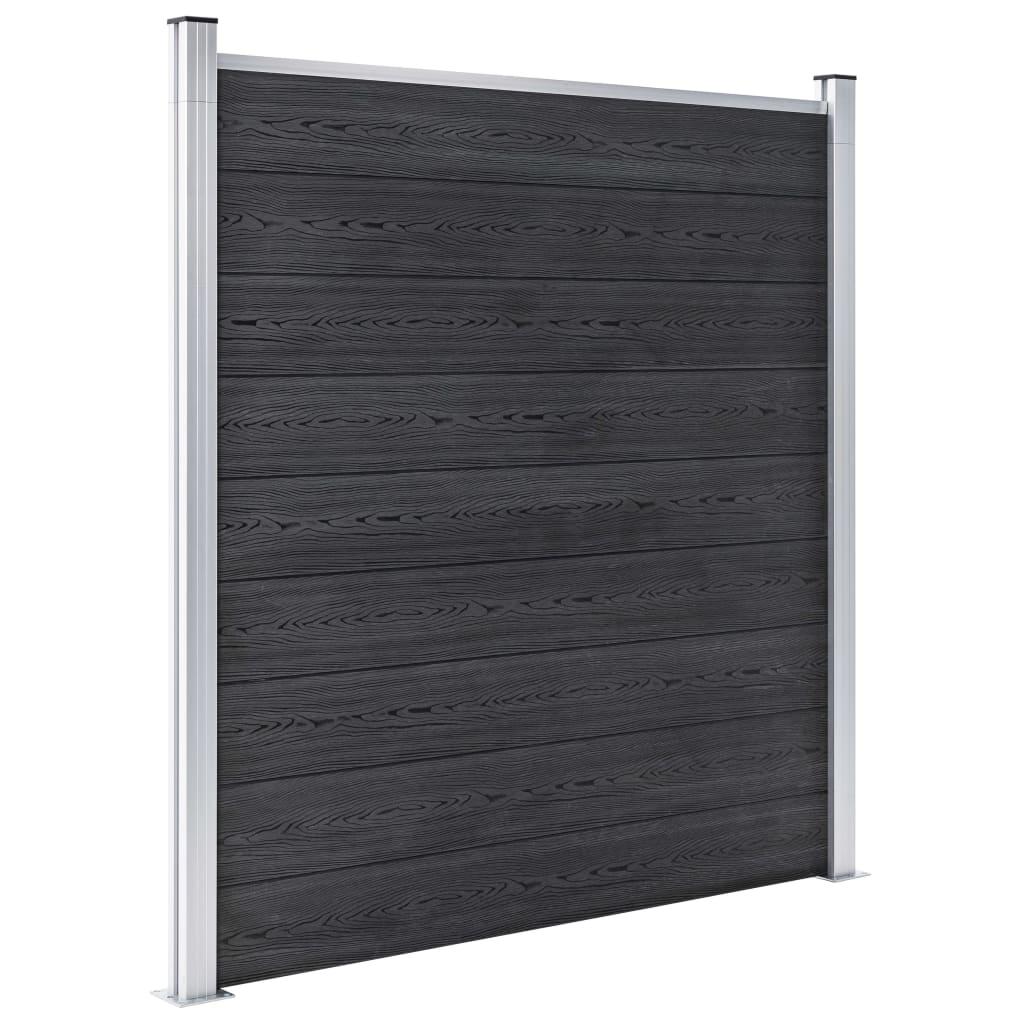 Staketpanel WPC 1391x186 cm grå