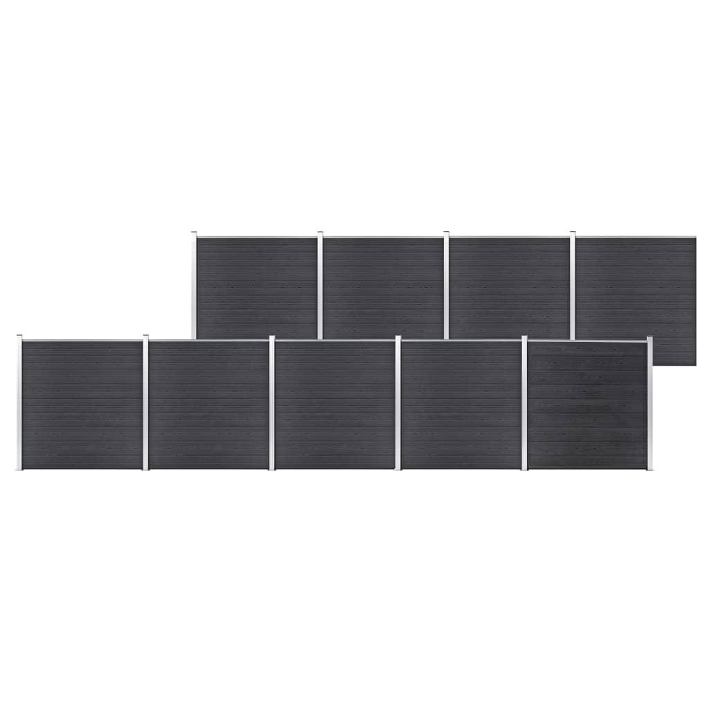 Staketpanel WPC 1564x186 cm grå