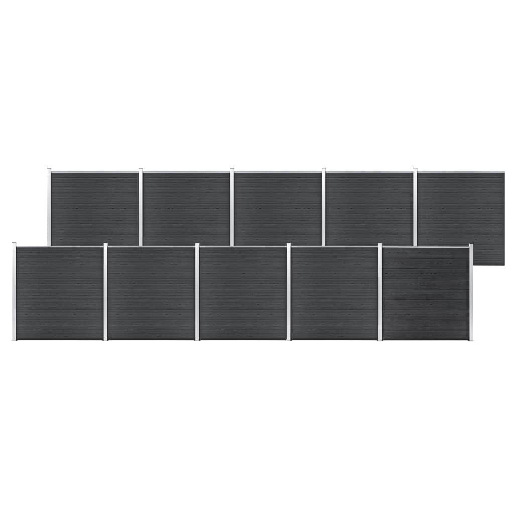 Staketpanel WPC 1737x186 cm grå