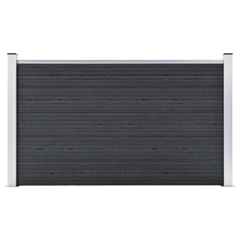 Staketpanel WPC 353x106 cm grå