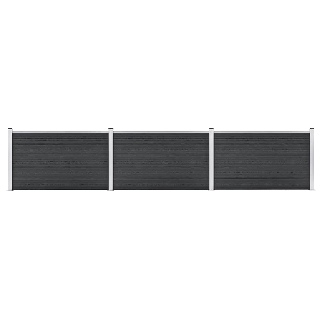 Staketpanel WPC 526x106 cm grå