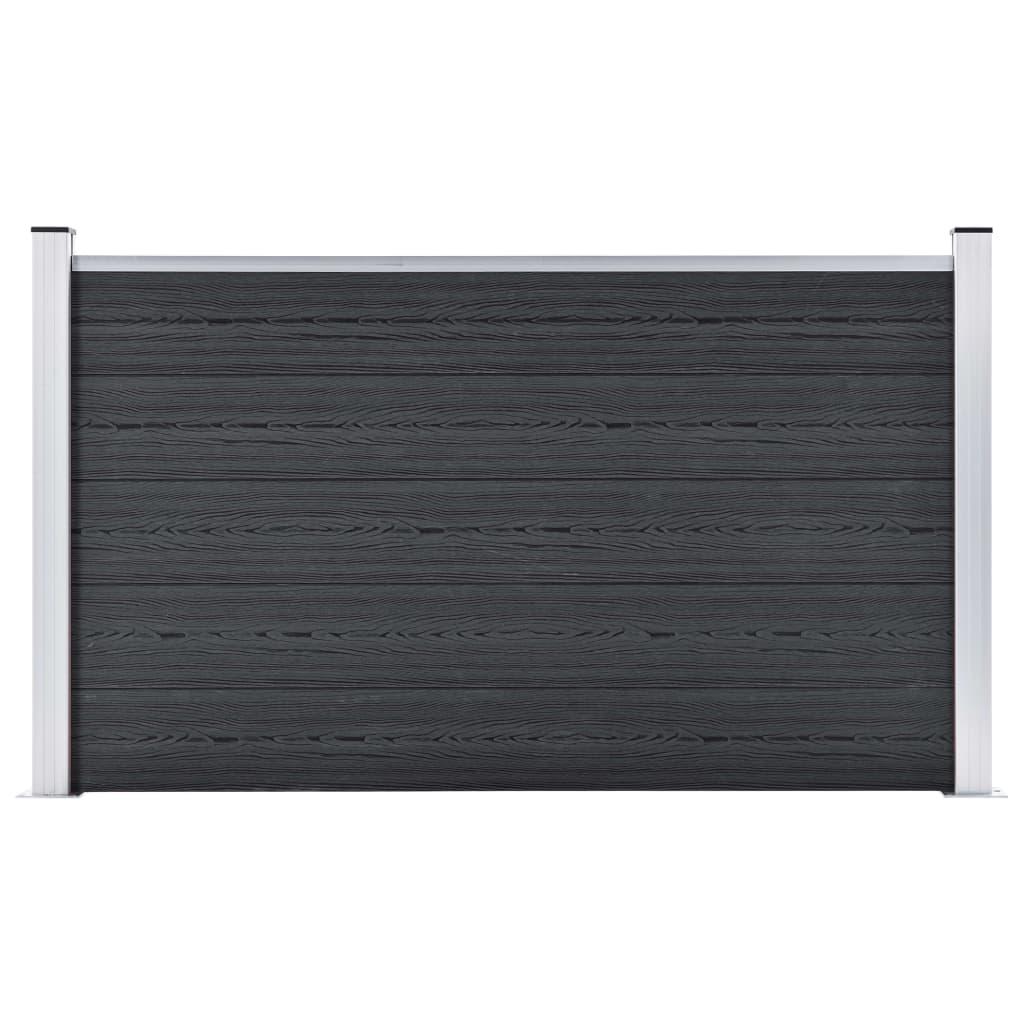 Staketpanel WPC 699x106 cm grå