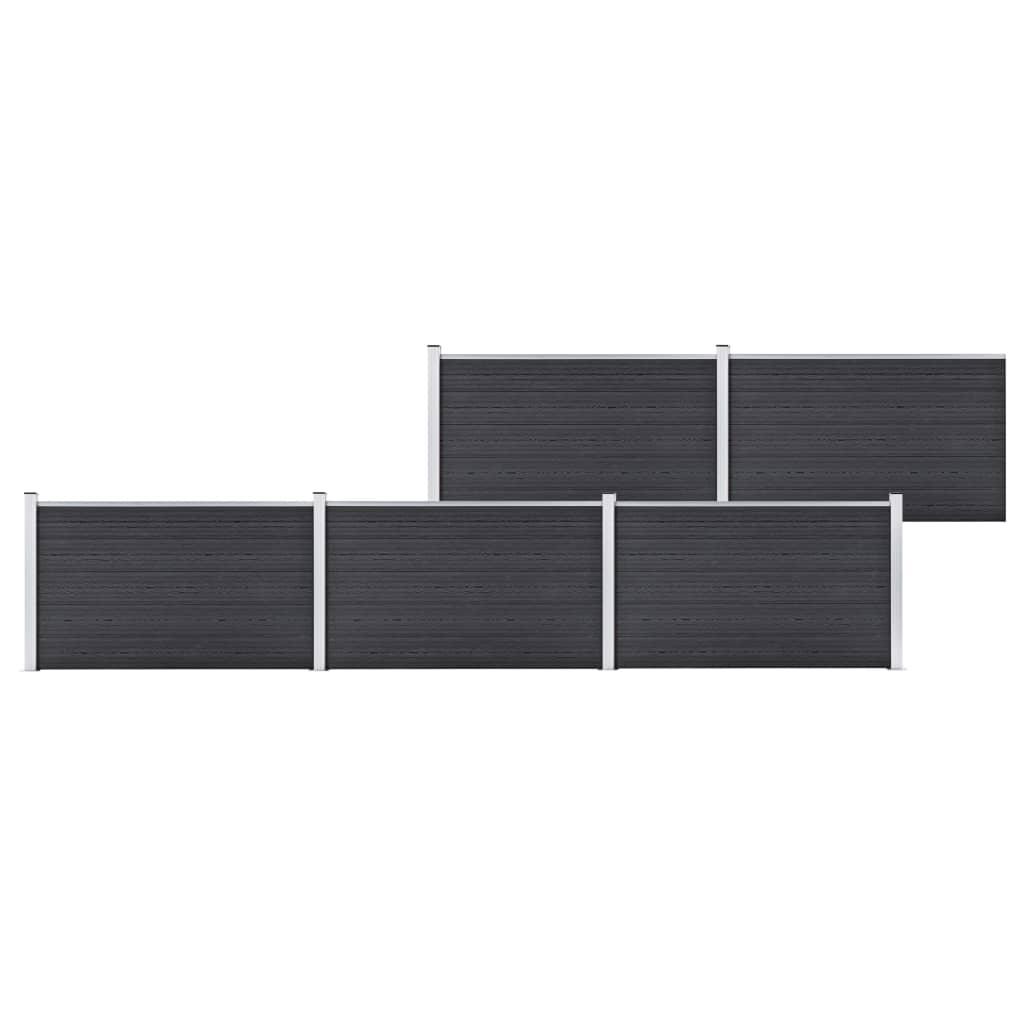 Staketpanel WPC 872x106 cm grå