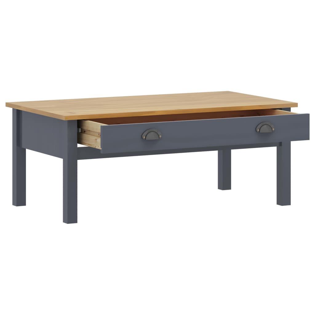 Soffbord Hill Range grå 100x55x40 cm massiv furu