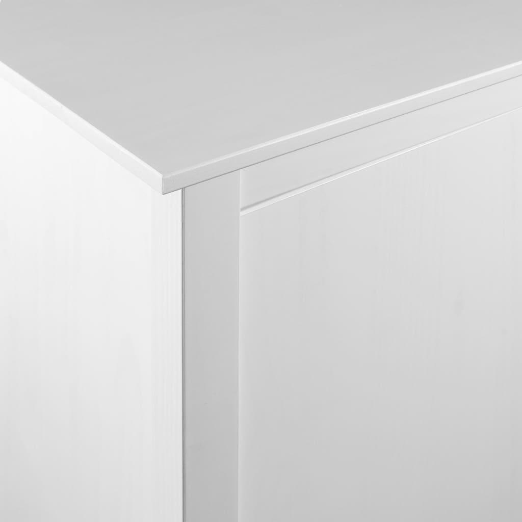 Garderob 3 dörrar Hill Range vit 142x45x137 cm massiv furu