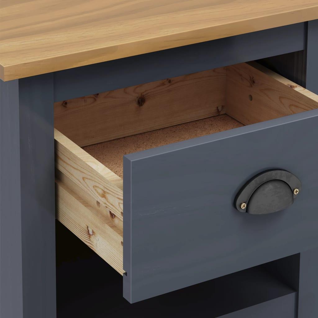 Sängbord 2 st Hill Range grå 46x35x49,5 cm massiv furu
