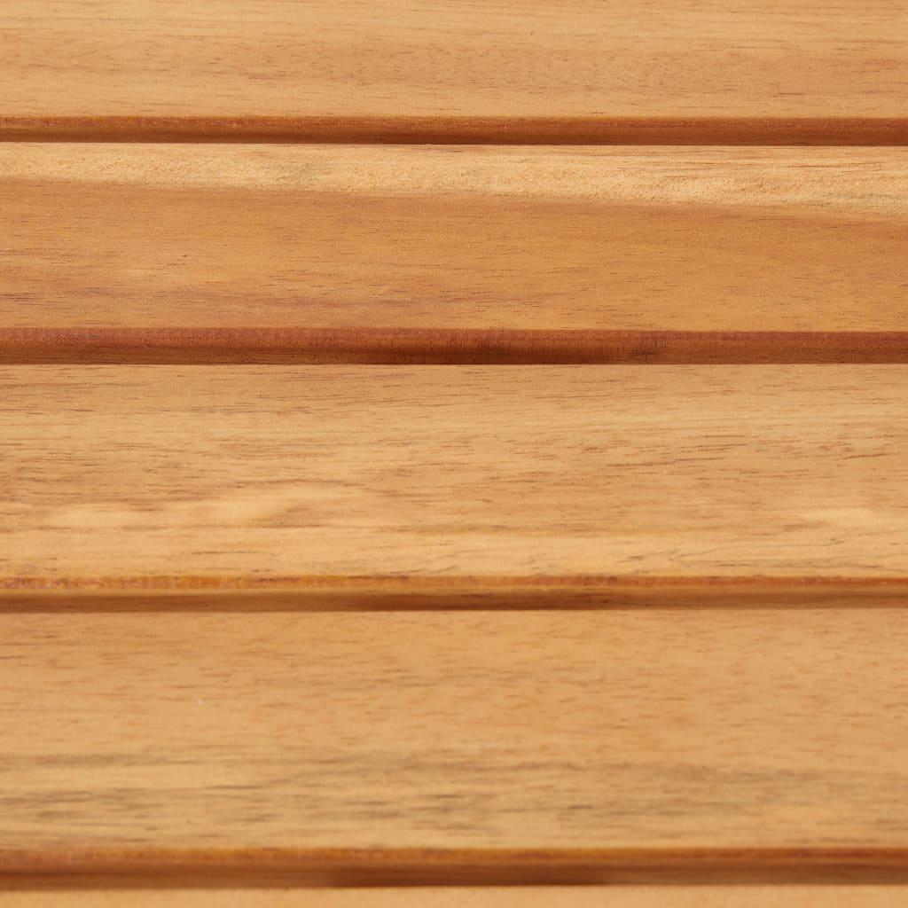 Bargrupp 5 delar massivt akaciaträ och rostfritt stål