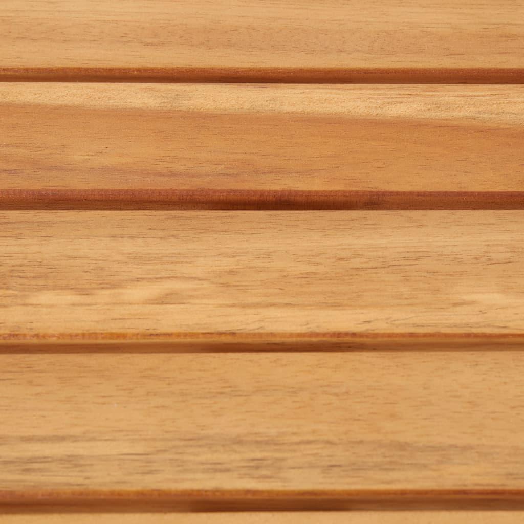 Bargrupp 7 delar massivt akaciaträ och rostfritt stål