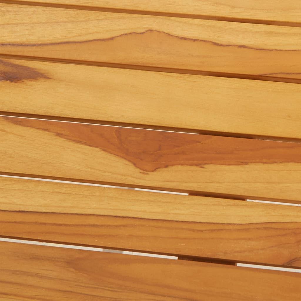Bargrupp 5 delar massiv teak och rostfritt stål