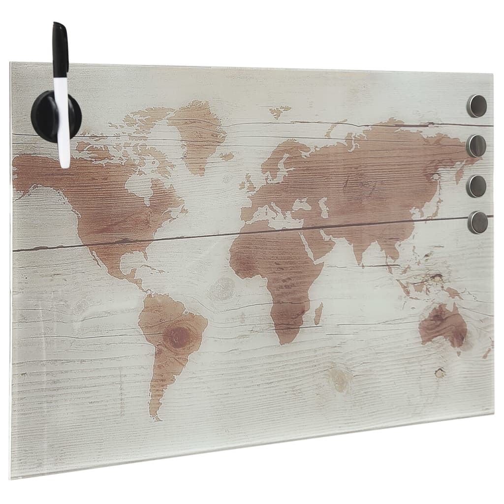 Magnetisk glastavla väggmonterad 50x30 cm