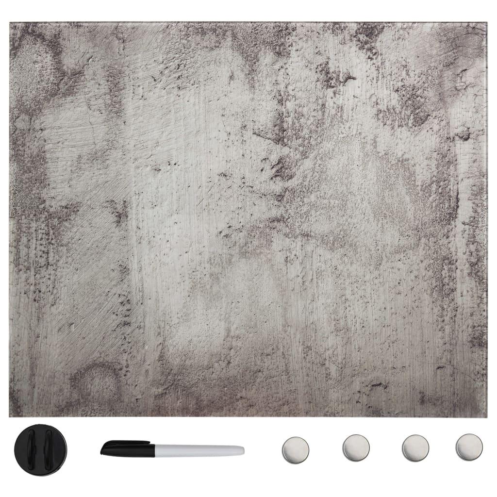 Magnetisk glastavla väggmonterad 50x50 cm