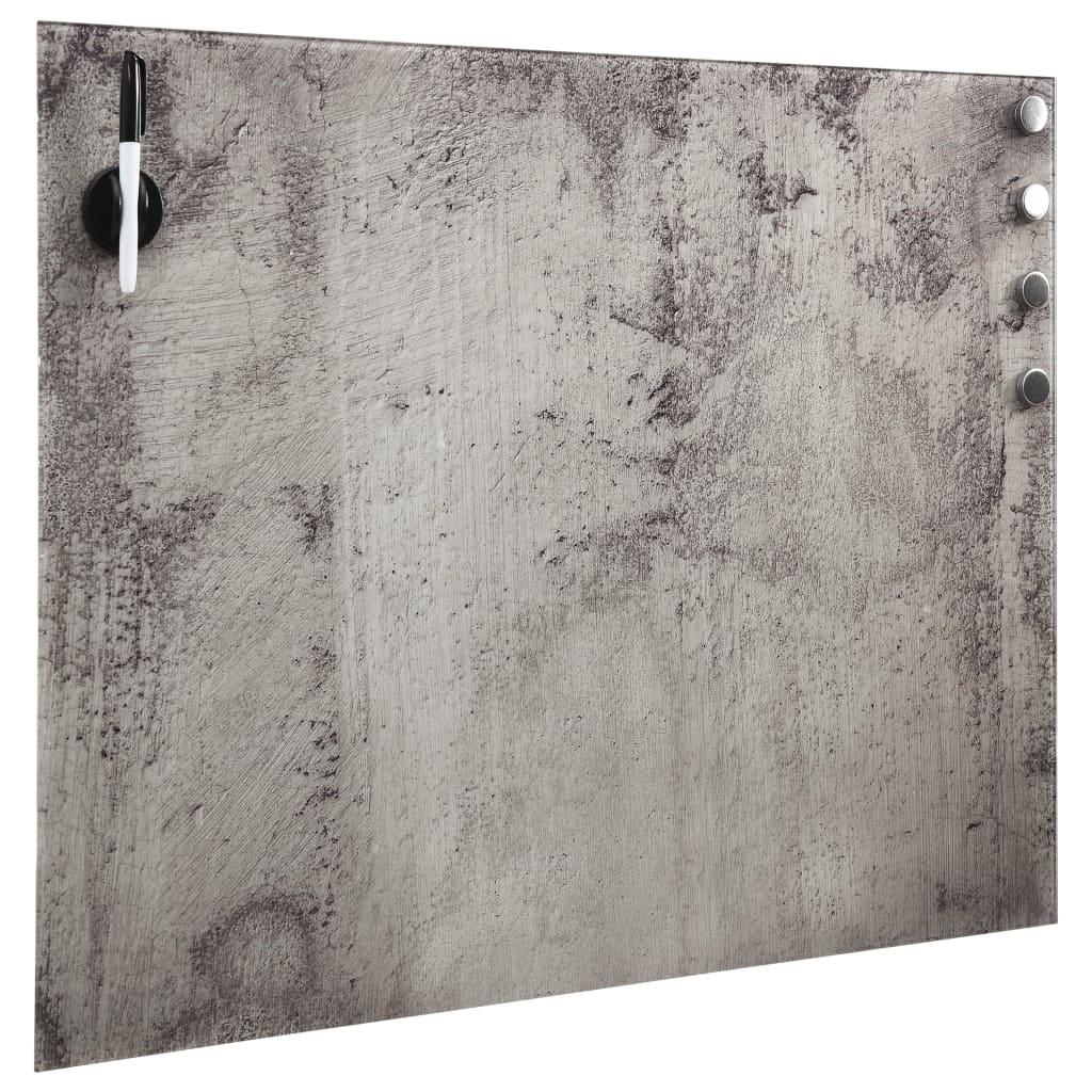 Magnetisk glastavla väggmonterad 60x60 cm