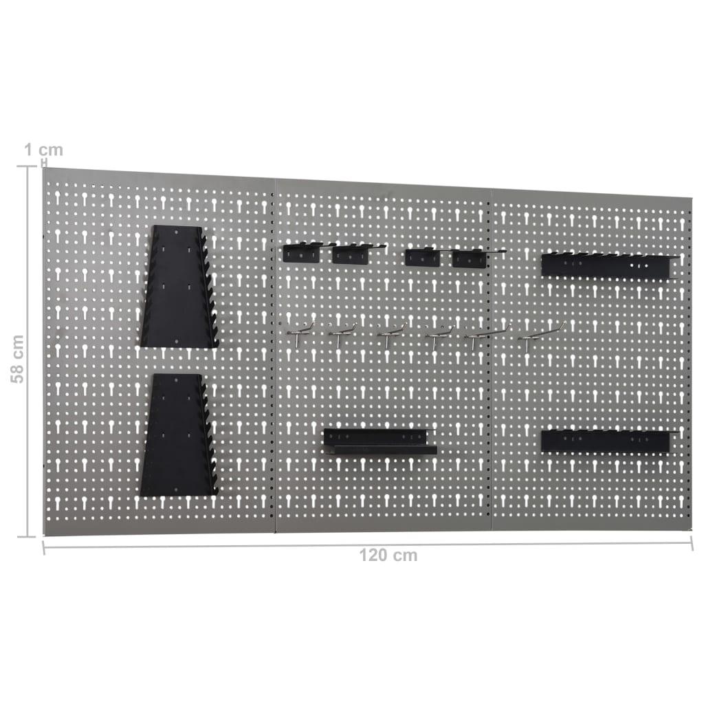 Arbetsbänk med fyra väggpaneler och två skåp