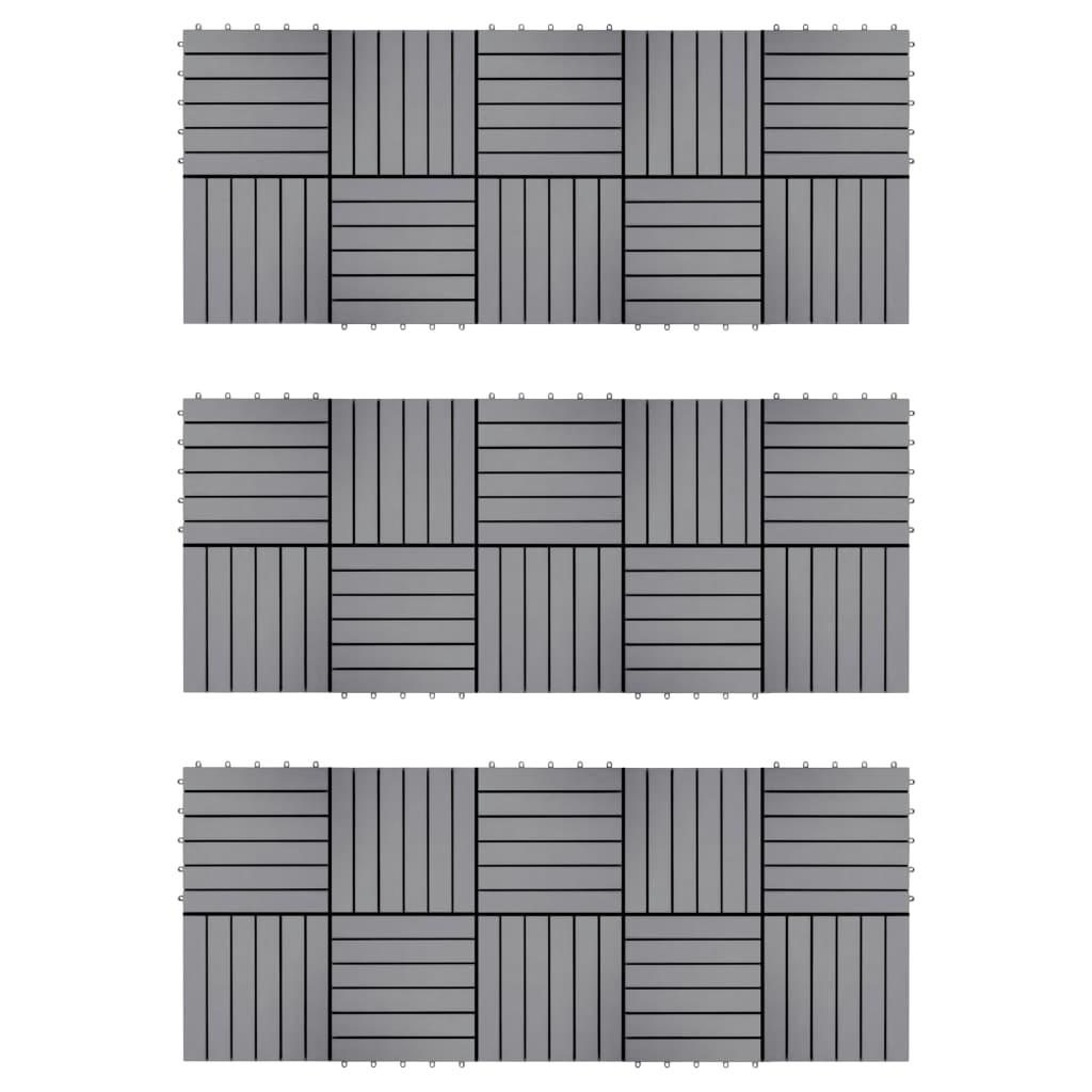 Trall 30 st grå 30x30 cm massivt akaciaträ