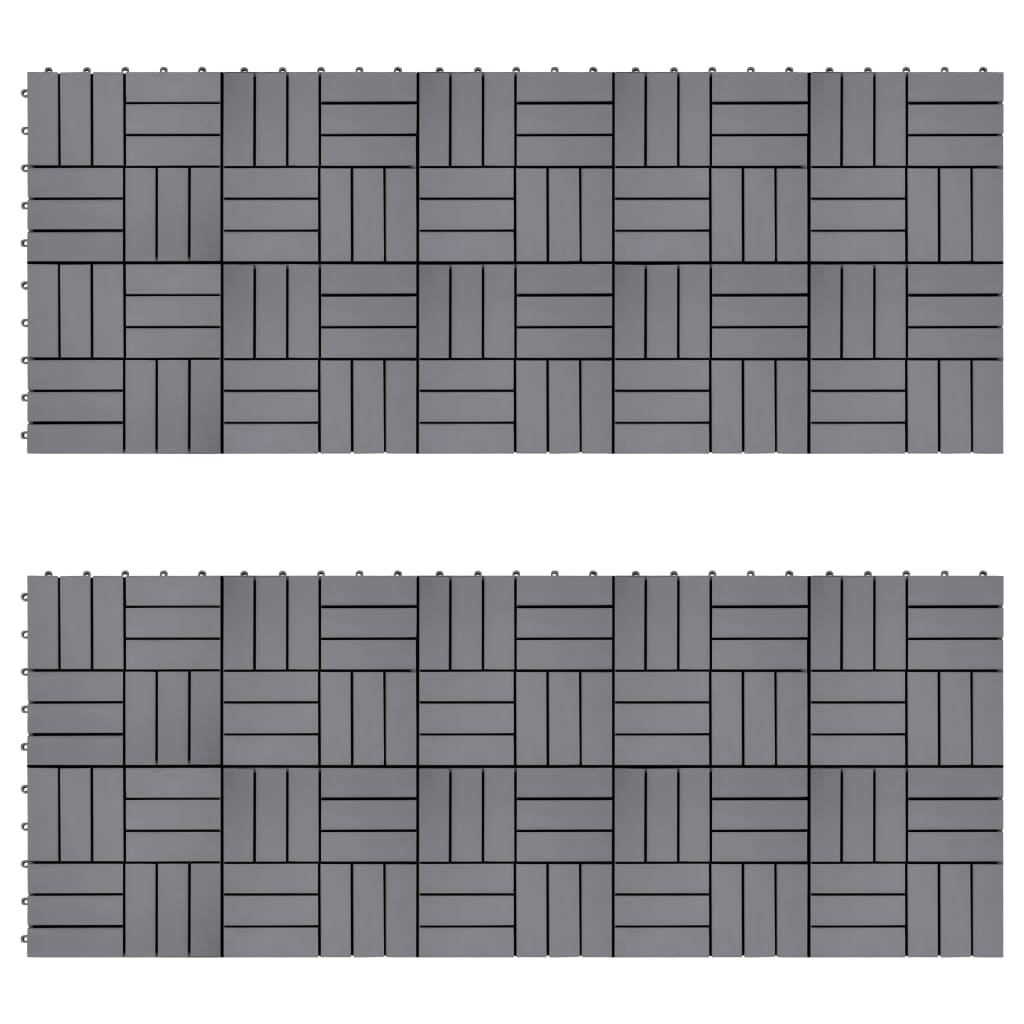 Trall 20 st grå 30x30 cm massivt akaciaträ