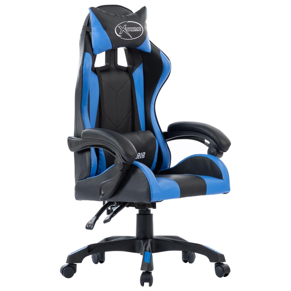 Racingstol blå konstläder