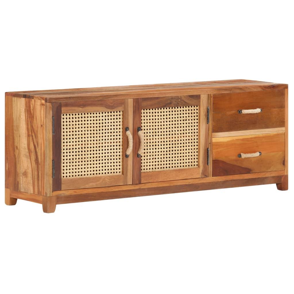 TV-bänk 120x30x45 cm massivt återvunnet trä