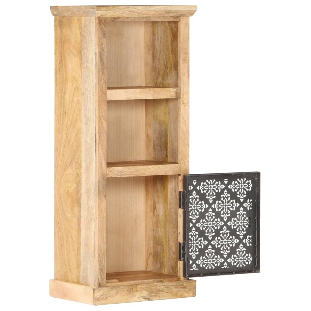 Högskåp med dörr 45x32x110 cm massivt mangoträ