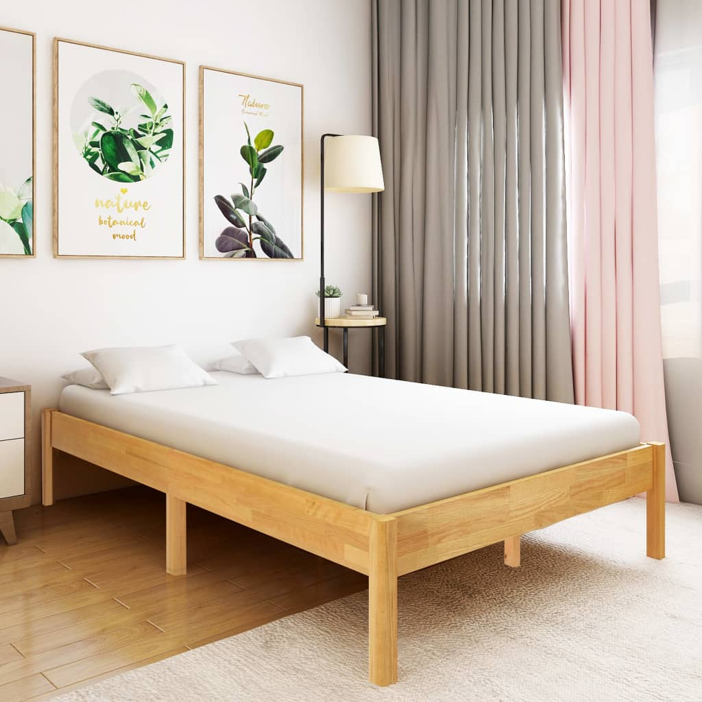 Sängram massiv ek 140x200 cm