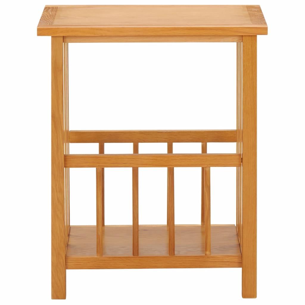 Tidningsbord 45x35x55 cm massiv ek